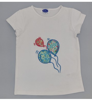 CAMISETA BORDADA GLOBOS
